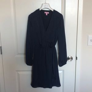 Lily Pulitzer navy cinched waist dress